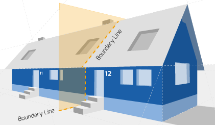 Party Wall illustration for Alsager Surveyors